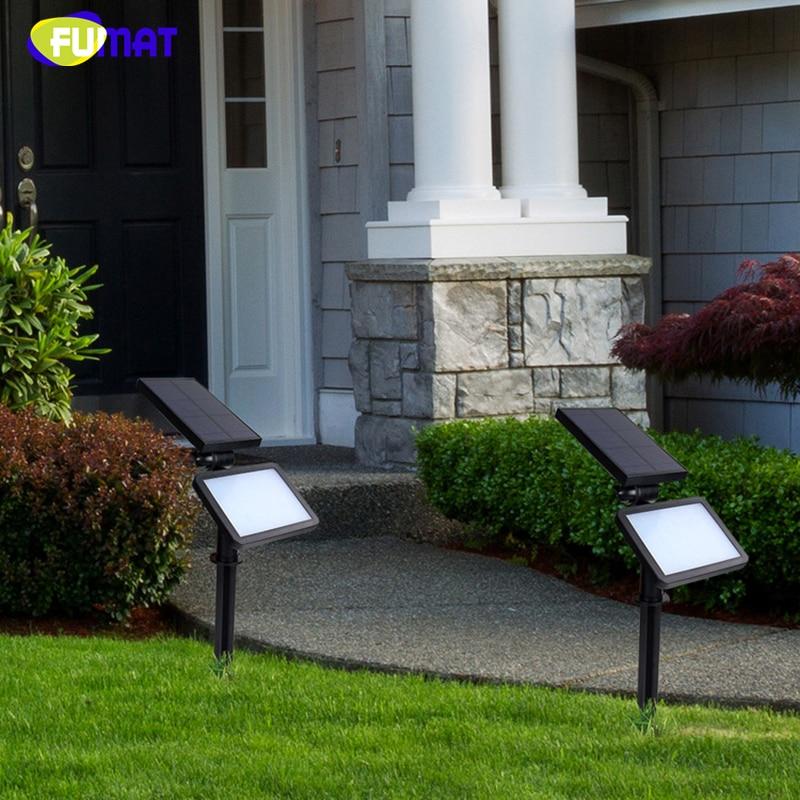 FUMAT Solar Spot Light 48 LEDS Outdoor Lawn Lamp IP65 Waterproof Garden Yard Light Fixtures 3.7V 2000 mA Solar Wall Lights