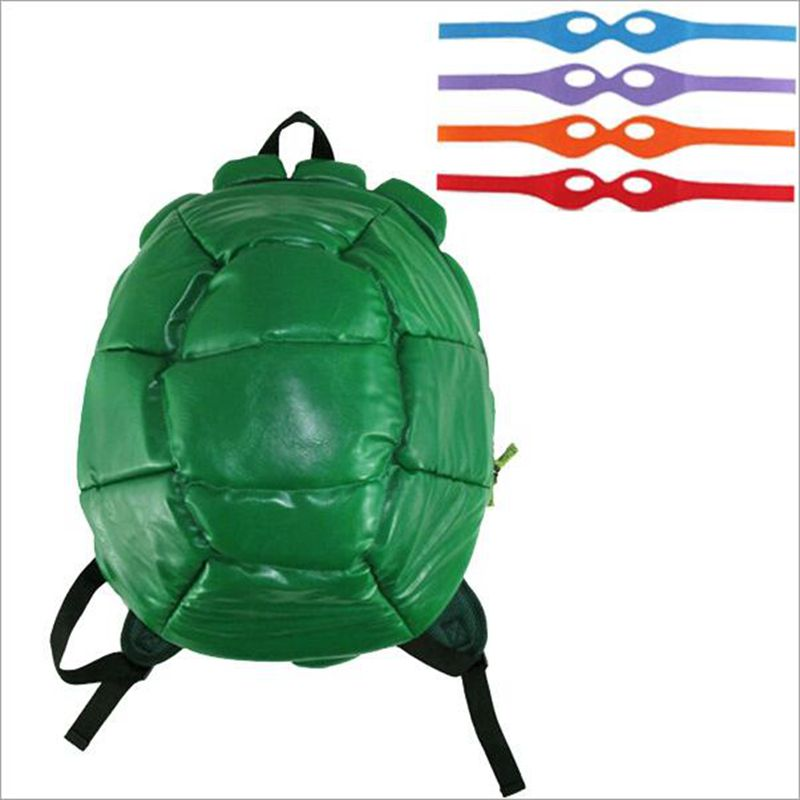 Teenage Mutant Ninja Turtles bag teenage mutant ninja turtles Backpack Turtle Backpack Including 4 Masks With Tag In stock рюкзак sprayground teenage mutant ninja grillz backpack b190b leonardo blue