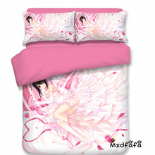 Mxdfafa Anime DATE A LIVE Quilt cover Comforter Bedding Sets Duvet Cover Set Include 1 and 2 dakimakura
