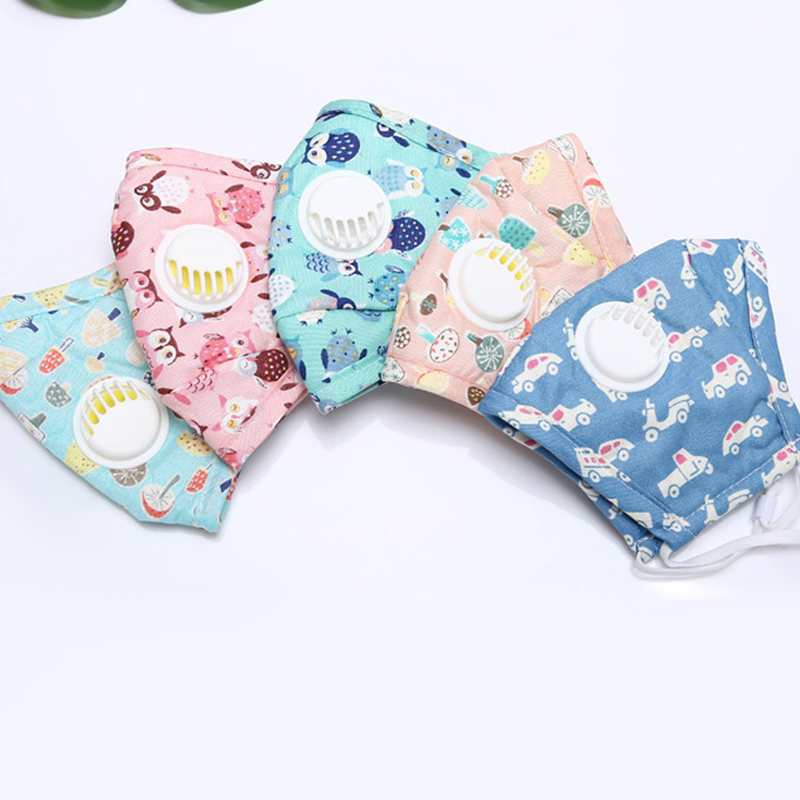 10 Pcs Children Mouth Face Mask Dustproof PM2.5 Breathable Cotton For Outdoor TS95