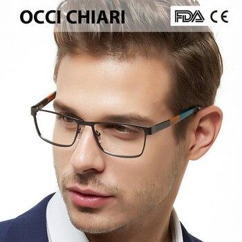 64d47724a8 Gafas De hombre De OCCICHIARI montura óptica para hombre gafas De acetato De  Metal De moda 2018 gafas De Grau primavera bisagra negro BICO