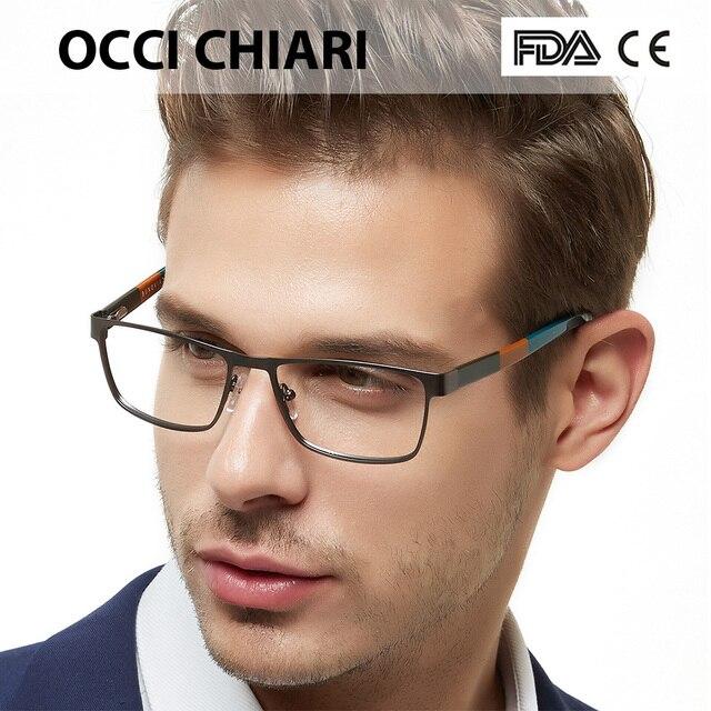 f29494065 OCCICHIARI Homens Homem Óculos 2018 Óculos de Metal Moda Óculos De Acetato  Óculos de Armação Óptica