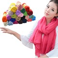 Fashion Lady Women Long Candy Colors Soft Cotton Scarf Wrap Shawl Scarves Stole muslim muffler