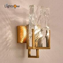 Современный минималистичный скандинавский Большой Хрустальный блочный настенный светильник для гостиной ТВ фон настенный светильник креативный настенный светильник