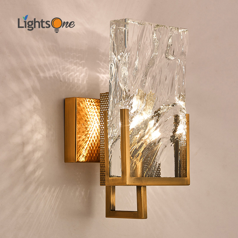 Postmodern minimalist Nordic large crystal block wall light living room TV background wall aisle creative wall lamp-in LED Indoor Wall Lamps from Lights & Lighting    1