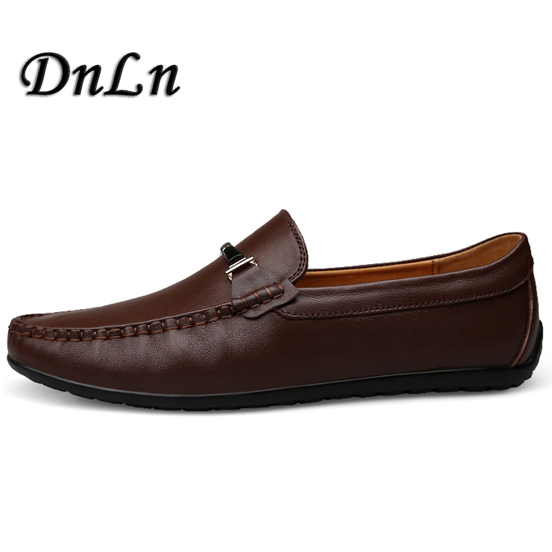 Men'S Loafers High Quality Cow Leather Man Driving Shoes Casual Moccasins Male Flats Slip On Shoe Men D30 wac lighting j led40n 30 bk logos led track fixture 40w 3000k narrow light
