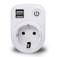 Dual USB Port 2 1A Wall Charger Power Adapter Travel Electrical Socket
