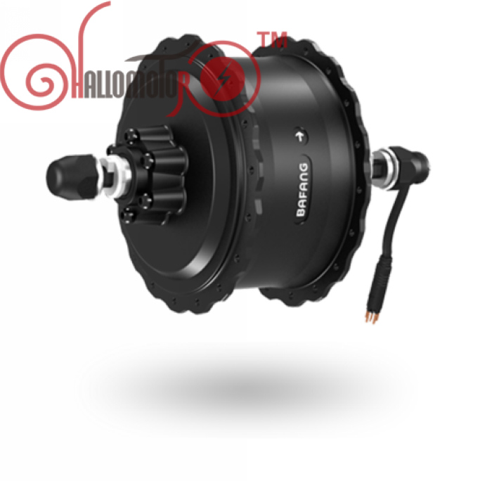 RisunMotor 36V/48V 500W 8FUN BAFANG Motor Brushless Geared DC Cassette Fat Tire Hub Rear Dropout Width 175mm 190mm Waterproof
