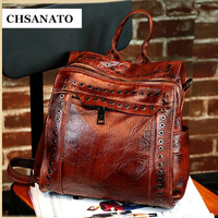CHSANATO England Style Women Backpack Cow Leather Backpacks Women 2018 Hotsale School Bags For Teenagers Famous Brand Travel Bag