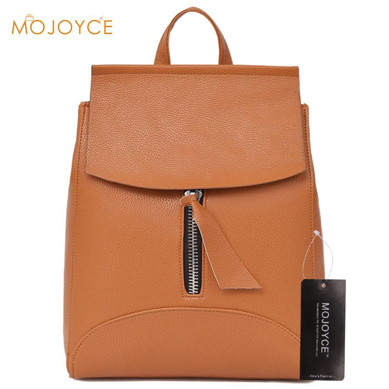 Vintage Women Backpack for Teenage Girls School Bags mochila escolar Fashion Large Backpacks PU Leather Black Bag Brown New 2017 jmd backpacks for teenage girls women leather with headphone jack backpack school bag casual large capacity vintage laptop bag