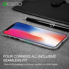 OICGOO 0.3mm Ultra Thin Back Full Cover Case For iPhone X Luxury Matte Transparent Protective Cases For iPhone X 10 Case Cape(China)