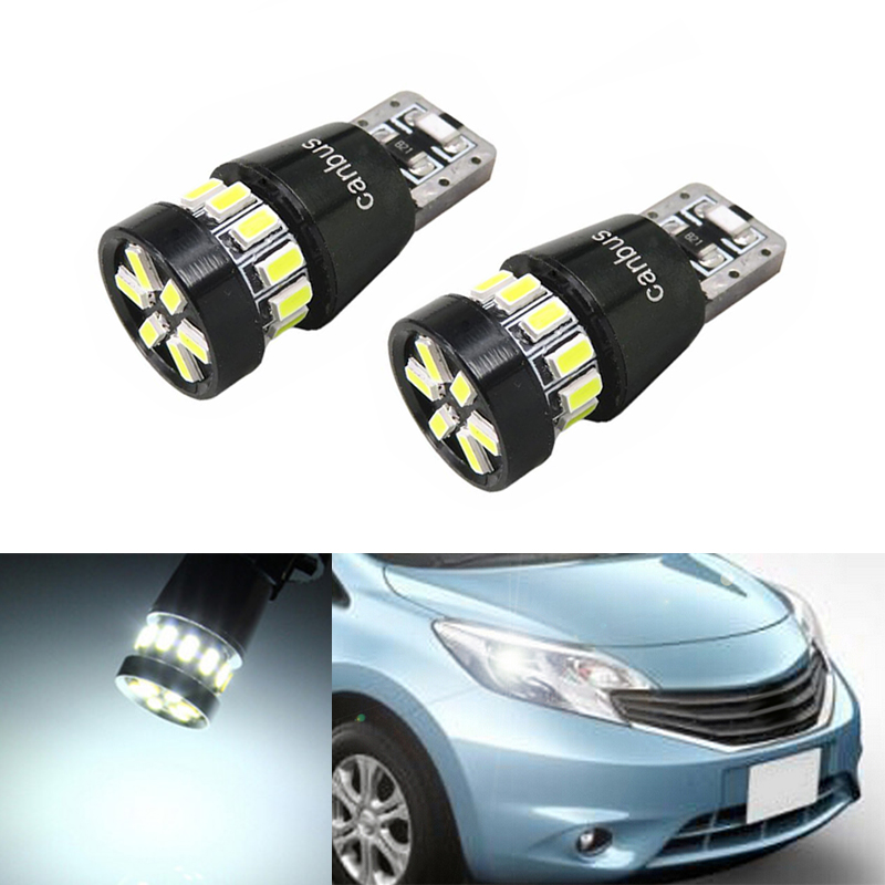 2x Canbus Car Wedge Light W5W T10 LED 3014 SMD Auto Lamp Bulb For Nissan qashqai tiida new teana SYLPHY note almera juke
