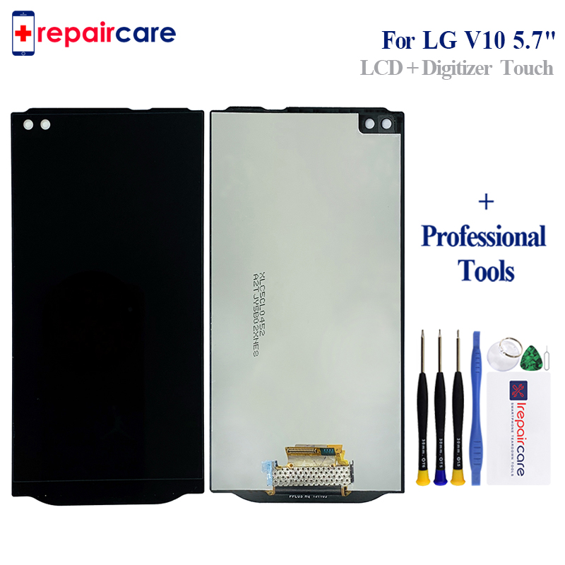 5.7'' 2560 x 1440 For <font><b>LG</b></font> <font><b>V10</b></font> H960 H968 H900 VS990 LCD <font><b>Display</b></font> with Touch Screen Digitizer Assembly With frame image