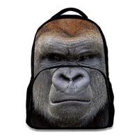 16 inch backpack for men animal printing high capacity school bag pu felt fabric high school back pack children book bags