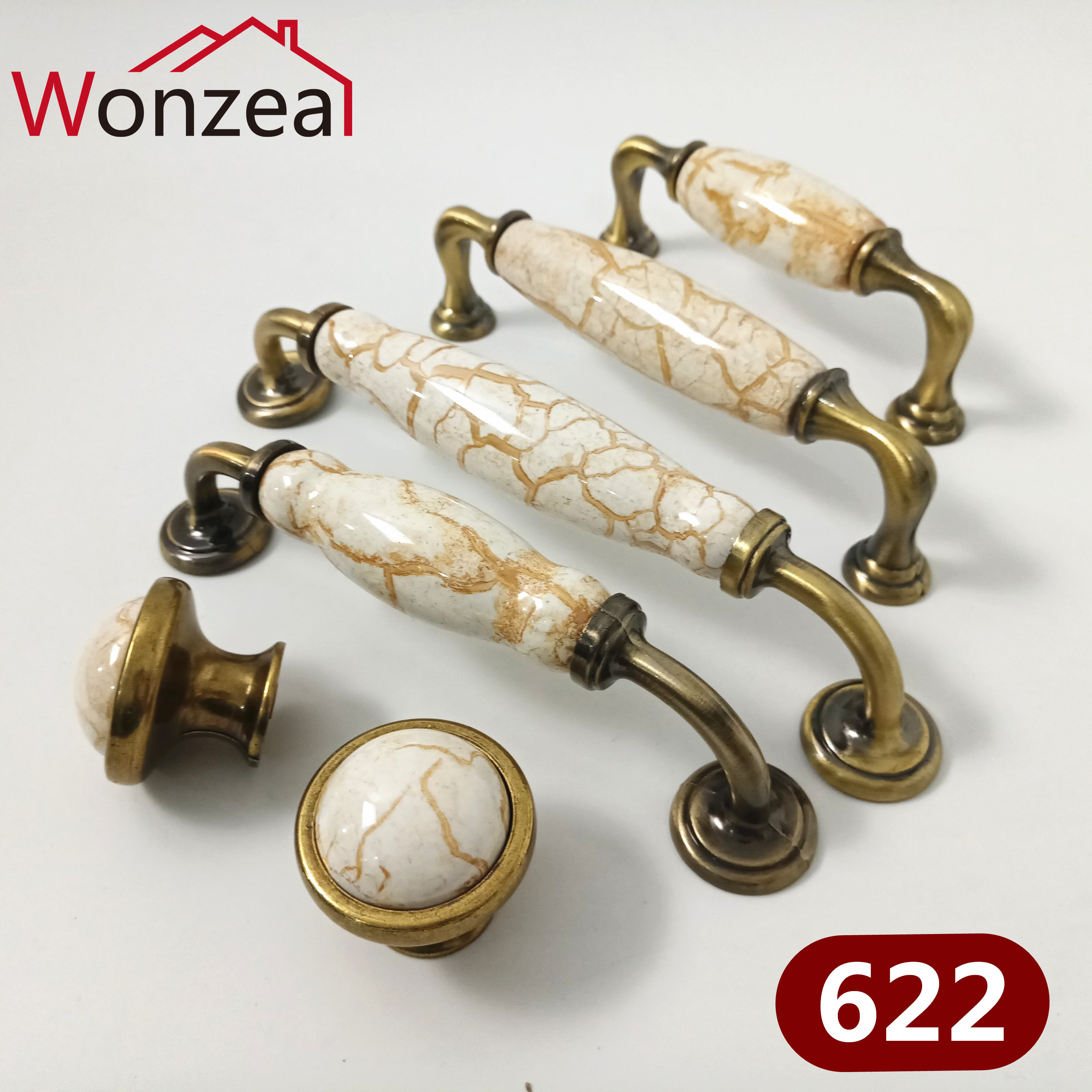 Antique Furniture Ceramic Knobs And Handles Marble Cabinet PUlls For Kitchen Cupboards Cabinet Door Knobs Drawer Pulls