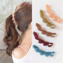 Fashion Girls Clamp Banana Hair Grip Clip Korean Hairpin Ponytail Holder Women Headwear Accessories Hot Sale