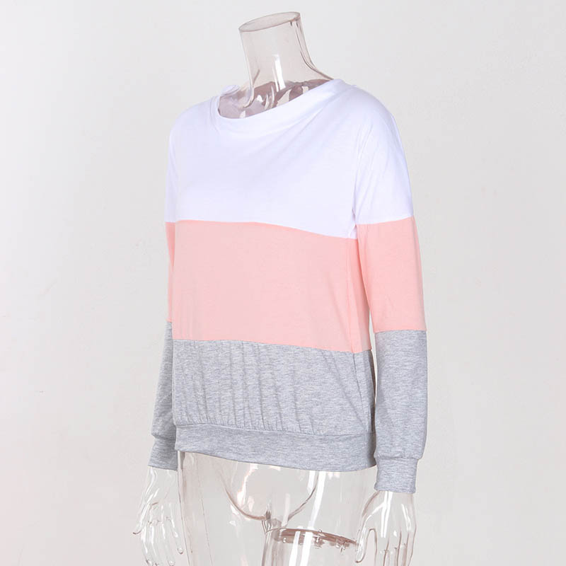 Women Long Sleeve Sweatshirt Ladies Casual Loose Lace Up Sexy Back Pullover Tops KNG88