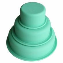 3 Tier Round Cake Mold Layer Cake Mold Kitchen Silicone Moulds Forms Bakeware Set for Birthday Party Wedding Anniversary