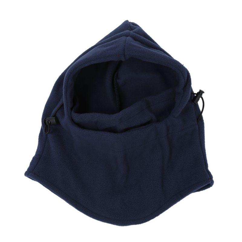 6in-1 Thermal Fleece Ski Face Mask Balaclava Hood Neck Warmer Snow Wind Stopper Dark blue