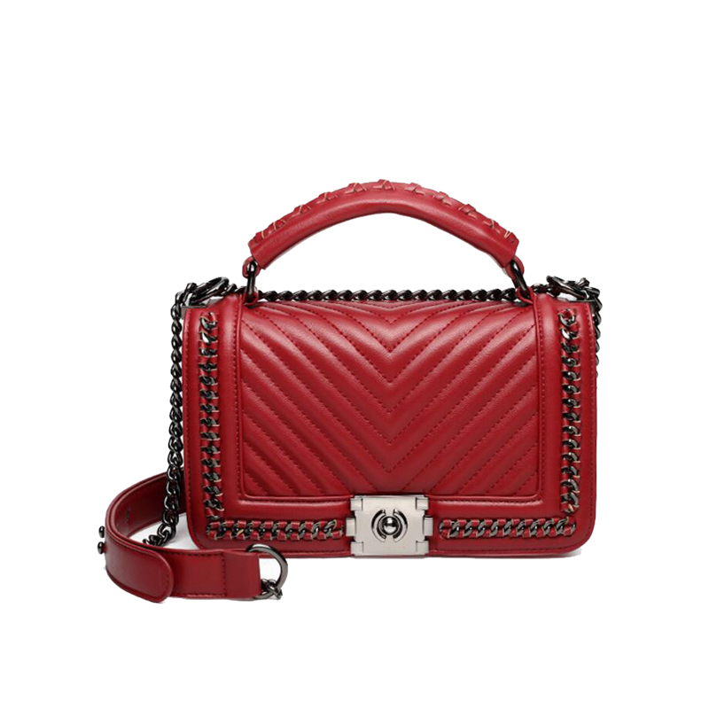 2017 V shape Women Bag Designer Handbags High Quality Lady Quilted Plaid  Shoulder Crossbody Bags Leather Women Messenger Bag-in Shoulder Bags from  Luggage ... f1dd6cf12d077