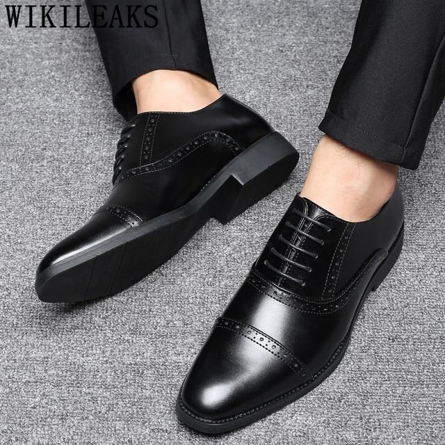 italian shoes men business formal shoes men leather party office brogue shoes  men zapatos oxford hombre 7c5247879e61