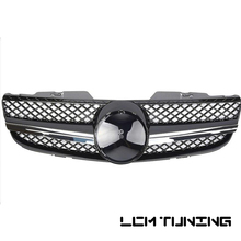 цена на For Mercedes For Benz SL-class R230 2006-2008 with Emblem SL Style Front Bumper Racing Grille