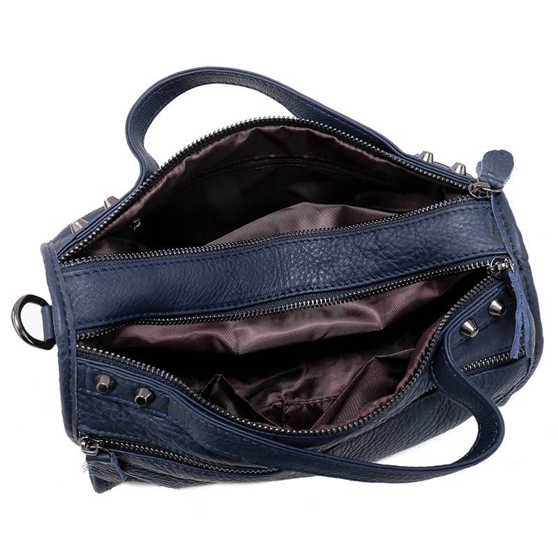 e4bdfbeed05a Nuleez Blue Red Purple Vintage Boston Women Handbag Ladies Genuine Leather  Crossbody Bag Zipper Shop Online Handbags Cheap 3101-in Top-Handle Bags  from ...