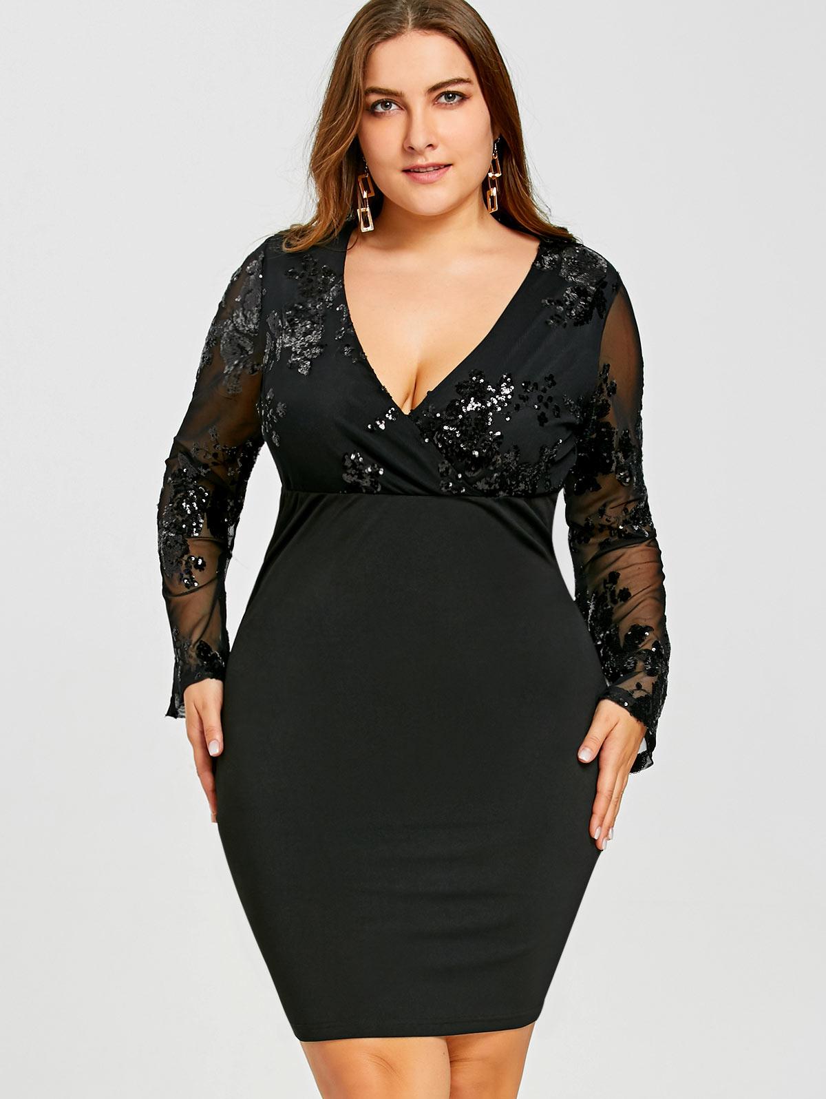 Gamiss Lace Plus Large Size Formal Party Dress Big Size Women Lace ...