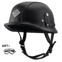 Motorcycle Helmets Half Helmet  Unisex Protection Helmet Black Capacete Half Shell Helm Matte Retro Racer Motocross triple 8 brainsaver gun matte helmet