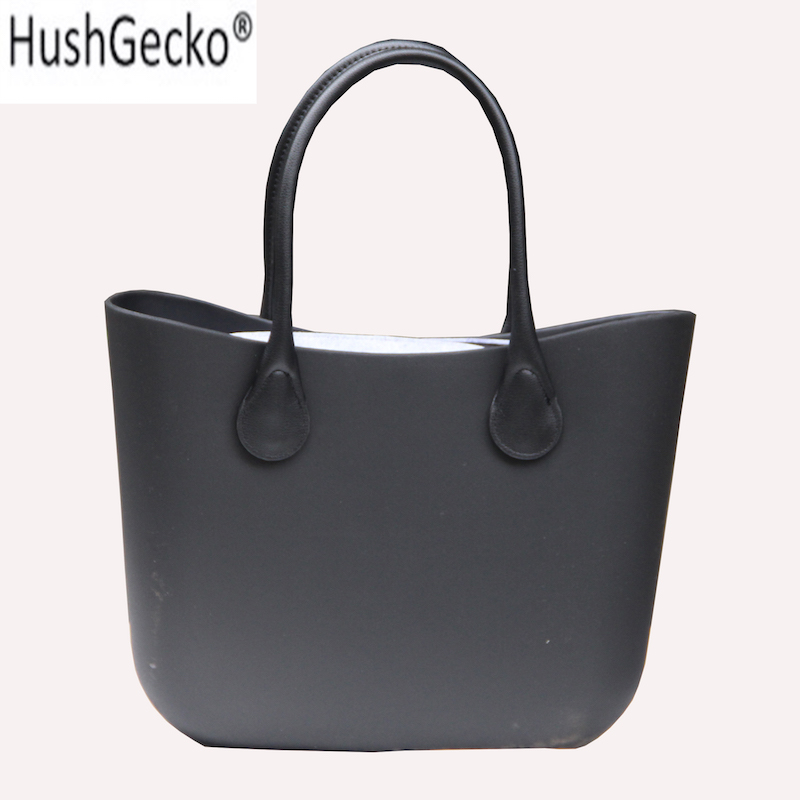 2019 New Classic EVA Bag with Insert Inner Pocket Colorful Handles EVA Silicon Rubber Waterproof Women