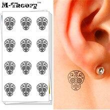 M-theory Temporary Choker Makeup 3d Tattoos Sticker Small Skulls Henna Flash Tatoos Body Art Tatto Sticker Swimsuit Makeup Tools