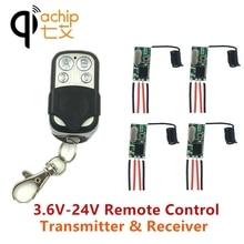 Qiachip 433 mhz 원격 제어 스위치 dc 5 v 12 v 미니 led 빛 수신기 릴레이 송신기 원격 제어 스마트 홈