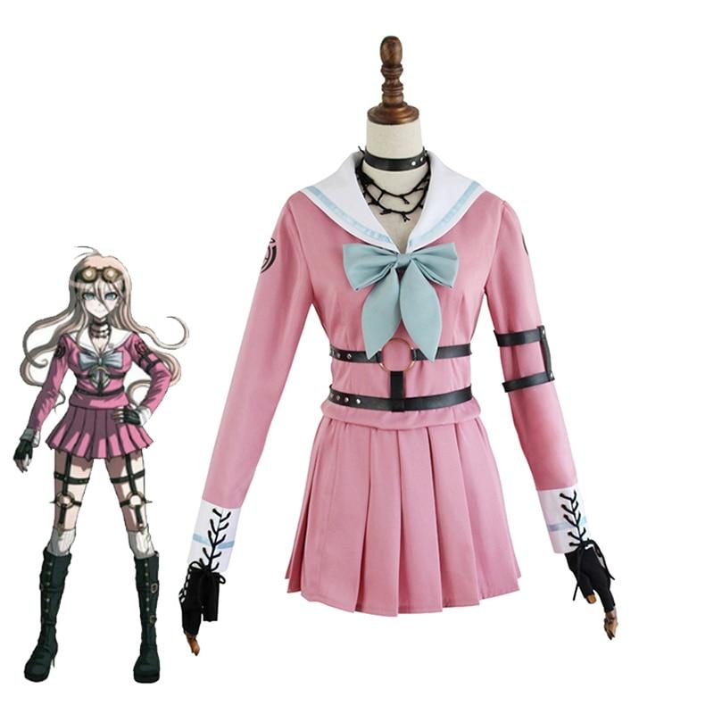 Danganronpa V3 Iruma Miu Cosplay Costume Girls School Uniforms Sailor -9729