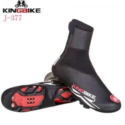 KINGBIKE велосипедная обувная крышка непромокаемая ветрозащитная MTB шоссейная велосипедная обувь чехол Зимняя Теплая Флисовая теплая велосип...