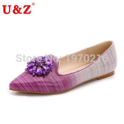 Plus big size shoes,Lovely rhinestone Gradient Colors women flats loafers shoes Eu44,Crystals decoration pointy toe flat shoes plus big size shoes lovely rhinestone gradient colors women flats loafers shoes eu44 crystals decoration pointy toe flat shoes