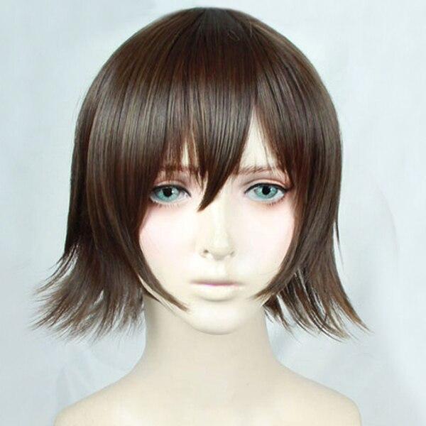FF15 FFXV Final Fantasy XV Iris Amicitia Short Mixed Brown Hair Heat Resistant Cosplay Costume Wig + Free Wig Cap