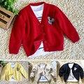 Бесплатная доставка новый 2014 весна осень детская одежда ребенок хлопчатобумажная нить трикотажная кофта ребенка верхнюю мальчики свитер
