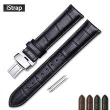 18mm 19mm 20mm 21mm 22mm pulseira de couro genuíno jacaré grão puxar implantação fecho pulseira de relógio para omega tissot oris
