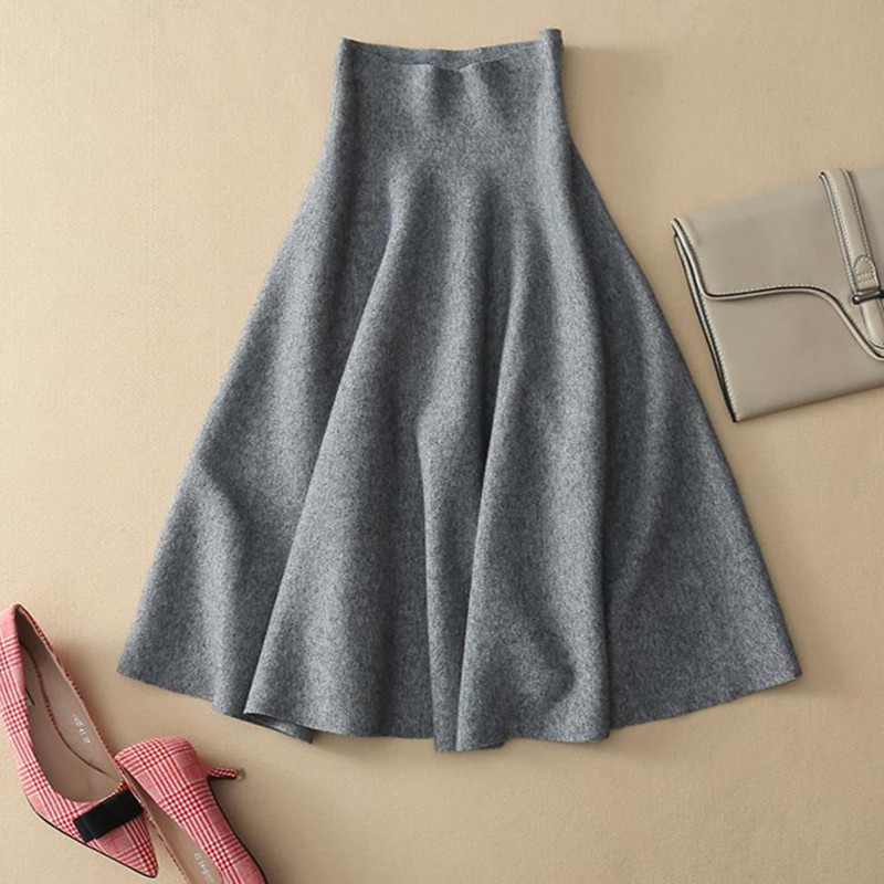 01e9338aa247c New Women Knitted Skirt Autumn Winter Sexy Solid High Waist Short ...