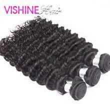 7A Vishine Hair 3Pcs Full Head Bundles Malaysian Virgin Hair Deep Wave Curly Hair Extension Sexy Formula Malaysian curly hair
