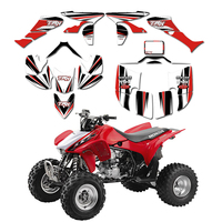 New STYLE DECALS STICKERS Graphics Kits Fit for Honda TRX450R TRX 450R 2005 2014 Fourtrax ATV