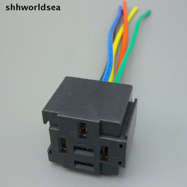 Shhworldsea 5  30  100pcs Car Auto 5 Pin Relay Socket Relay