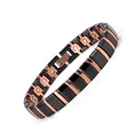 Women Magnetic Bracelet Stainless Steel Ceramic Magnets Germanium Pain Relief