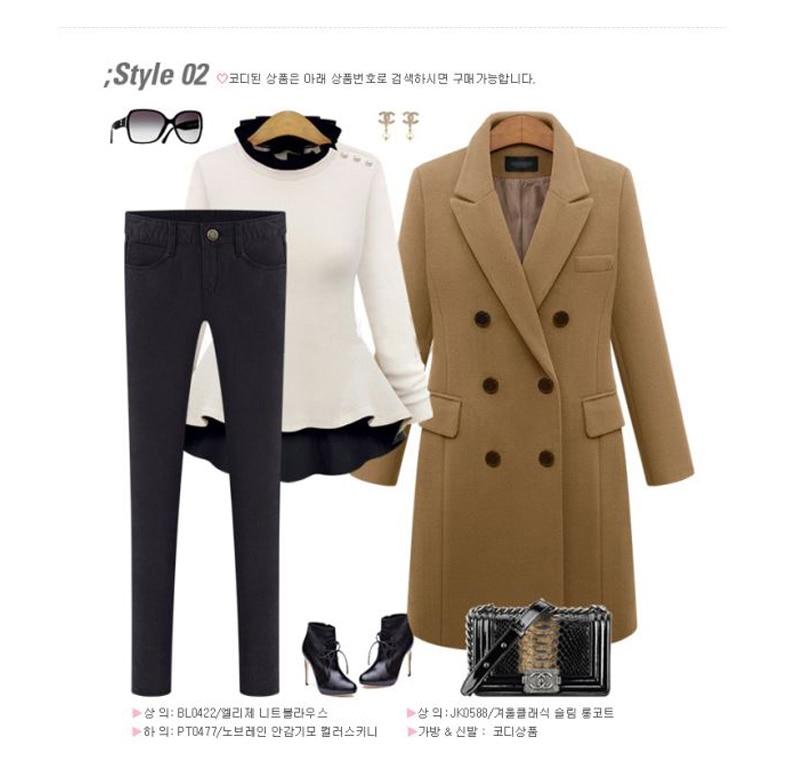 2016 European Women Autumn Winter Coat High Quality Woolen Coat Solid Color Elegant Casual Wool Big Yards Coat Plus Size 5XL (16)