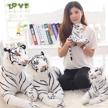 30/40/50 Cm Simulation Soft Stuffed White Tiger Animals Pillows Plush Educational Toy Dolls For Children Kid Birthday Gift