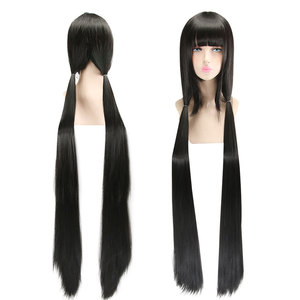 Image 2 - HSIU Harukawa Maki Cosplay Wig New Danganronpa V3 Costume Black long straight Play Wigs Halloween Costumes Hair free shipping