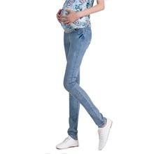 Elastic Waist Maternity Jeans Pants For Pregnancy Clothes For Pregnant Women Legging Maternity pregnant Spring / Autumn 2018 3XL