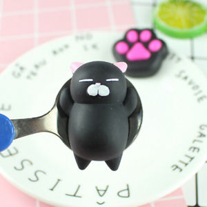 1PCS Cute Rubber Hand Squeeze Gag Toys Cartoon Animal Soft Silicone Cat Anti-stress Scented Toys