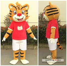New Tigress Tiger Mascot Costume Animal Cartoon Character Mascot Costume Halloween Party Fancy Dress Carinval Outfit Adult Size