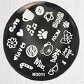 NICOLE DIARY Nail Stamping Template Stainless Steel Lovely Dogs Flowers Pattern Nail Art Manicure Stamping Image Plate